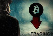 BTC, Bitcoin, downtrend, propad, cena, kryptoměny