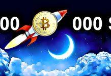 Bitcoin to the Moon 100 000 $ BTC kryptoměny