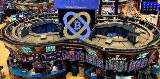 Bitcoin BTC kryptoměny virtuální digitální měny NYSE