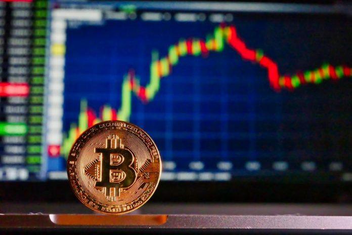 bitcoin BTC graf kryptoměny mince coin